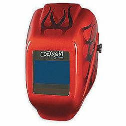 JACKSON SAFETY Welding Helmet,Shade 9 to 13,Red, 46149, Red
