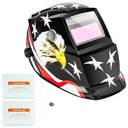Z ZTDM Welding Helmet Pro Solar Auto Darkening American Eagl