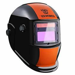 Welding Helmet Solar Powered Auto Darkening Hood w Adjustabl