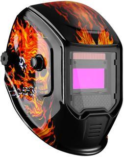 DEKOPRO Welding Helmet Solar Powered Auto Darkening Weld Hoo